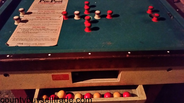 Vintage Bally PinBumper Pool Table W CoinOp Original Parts In - Lipscomb pool table